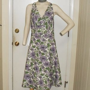 NWOT White Floral Tank Top Flare Bottom Midi  6
